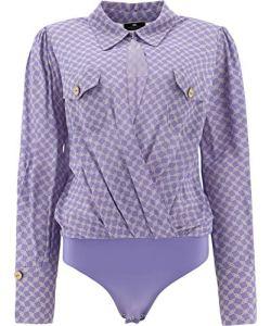 Elisabetta Franchi Mode De Luxe Femme CB01411E2Q45 Violet Autres Matériaux Body | Ss21