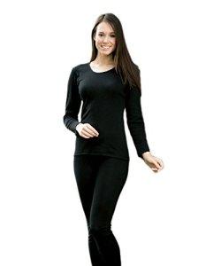 Engel Maillot de corps manches longues pour femme – Noir – 38