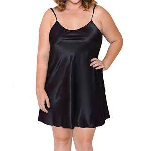 HLMJ Taille Plus Femmes Lingerie Sexy sous-vêtements Chemise De Nuit Grande Taille Sexy Ladies Babydoll Femme De Nuit Érotique Lenceria Mujer 5XL (Color : Black, Size : 4XL.)