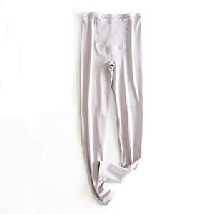 Xin Hai Yuan Sous-vêtement thermique doublé polaire pour femme Gris M