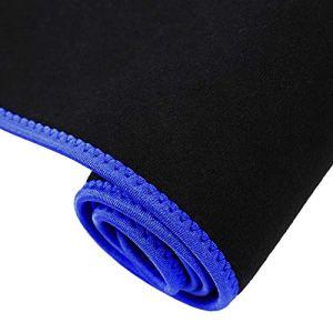214 Fitness Taille Tondeuse Ceinture Sueur entraînement Corps Shaper Sauna Sweat Wrap Sauna Costume Effet pour Hommes et Femmes haltérophilie(Blue, L)