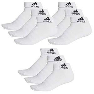 adidas 9 pair Performance Sneaker Socks Unisex short sock, Farben:White, Socken & Strümpfe:43-45