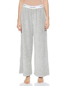 Calvin Klein Sleep Pant Bas Thermique, Gris (Grey Heather 020), 46 (Taille Fabricant: X-Large) (Lot de 2) Femme
