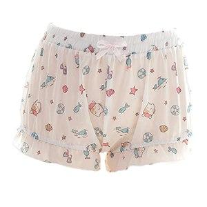 JasmyGirls Kawaii Lingerie Bloomers pour femme Short Lolita Pantalon de pyjama japonais transparent en forme de citrouille Anime Cosplay Costume – Blanc – XS/M