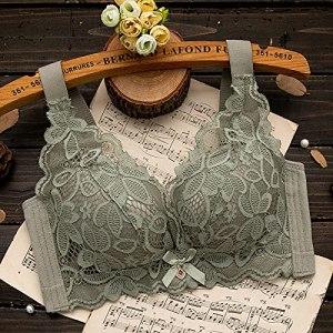 Les grandes seins sans bords montrent petits, sans éponge, grande taille et section fine, froncée, anti-affaissement, allaitement, sous-vêtements respirants pour femme 38/85