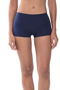Mey Culotte pour femme – Culotte avec coupe au niveau des hanches – Ultra plate et ultra douce – Série Natural Second me – 79529 – Bleu – L