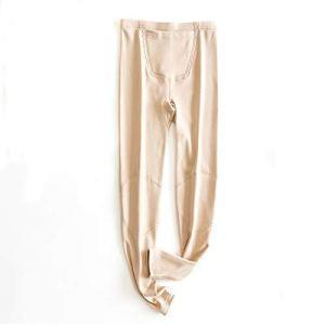 Xin Hai Yuan Sous-vêtement thermique doublé polaire pour femme Couleur chair Taille XL
