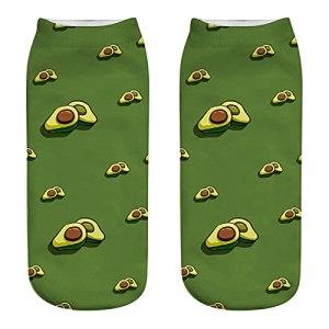 1 paire d'avocat mignon trois chaussettes d'impression tridimensionnelles à l'impression unique de loisirs chaussettes de cheville pour femmes (Color : 1, Size : 33 39)