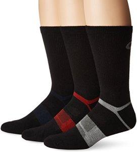 ASICS Quick Lyte Lot de 3 paires de chaussettes unisexes en laine mélangée moyen Noir assorti.