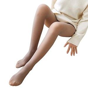 Collant chaud translucide pour femme – Taille haute
