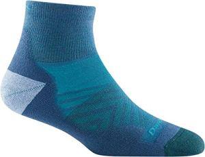 Darn Tough (Style 1048) Chaussettes 1/4 ultra légères avec coussin pour femme – bleu – Medium