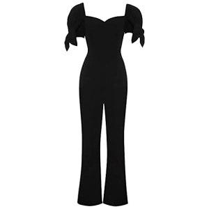 GFDFD Combinaison de la Combinaison de température d'été pour Femmes Tube Haute Taille Haute Taille élégante Noble Tube Noir (Color : Black, Size : Scode)