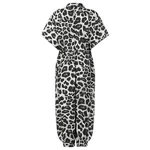 GFDFD Combinaison Femmes Plus Taille Imprimer Slim Bouton Long Bouton Rompers à Manches Courtes Jumpsuits Body Rompers (Color : Black, Size : Scode)