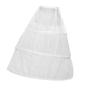 Jupon Crinoline 3 Cerceaux pour Robe de Mariage Blanc