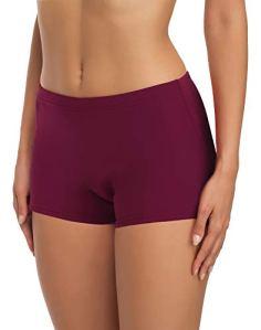 Merry Style Short de Bain Sport Vêtements d'Été Femme L23L1 (Bordeaux (5288), FR 36 = DE 34)