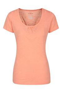 Mountain Warehouse T-Shirt Agra léger et Respirant pour Femme – Séchage Rapide, évacuation de la Transpiration – pour Sports d'extérieur et randonnée Corail 52