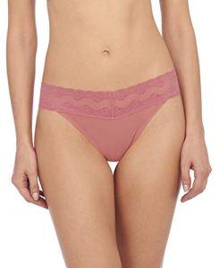 Natori Women's Bliss Perfection One Size Thong, Mauvewood
