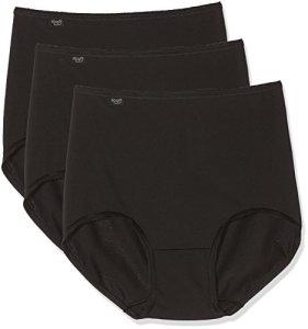 sloggi 24/7 Microfibre H Maxi C3P, Culotte Haute Lot de 3 – Femme – Noir (BLACK 0004) – EU:40 / FR:42
