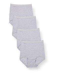 Sloggi Basic+, Lot de 4 Slip Maxi en Coton pour Femme, Gris (Grey Combination), FR: 54