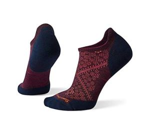 Smartwool Women's PhD Run Light Elite Micro, chaussettes de course Femme, Bordeaux/Deep Navy, Shoe Size: 7-10