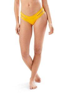 Speedo Women's Trinity Hipster Bikini Bottom, Mango, Small