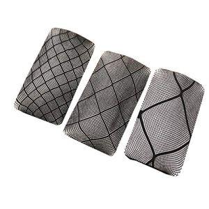 XueXian Lot de 3 paires de collants en résille pour femme Motif losanges – noir – X-Small-Small