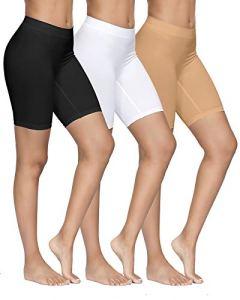 YADIFEN Femme Slip Panties Culotte Taille Haute sous-vêtements Short de Yoga Longue Legging Cyclisme Doux Anti-frottement Boyshort Culotte 3 Paquet Taille XXL