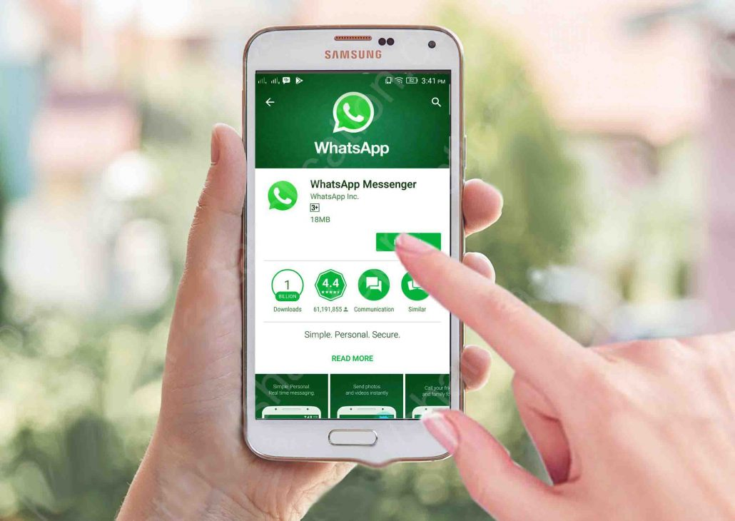 Install whatsapp messenger free download for samsung galaxy   etips application