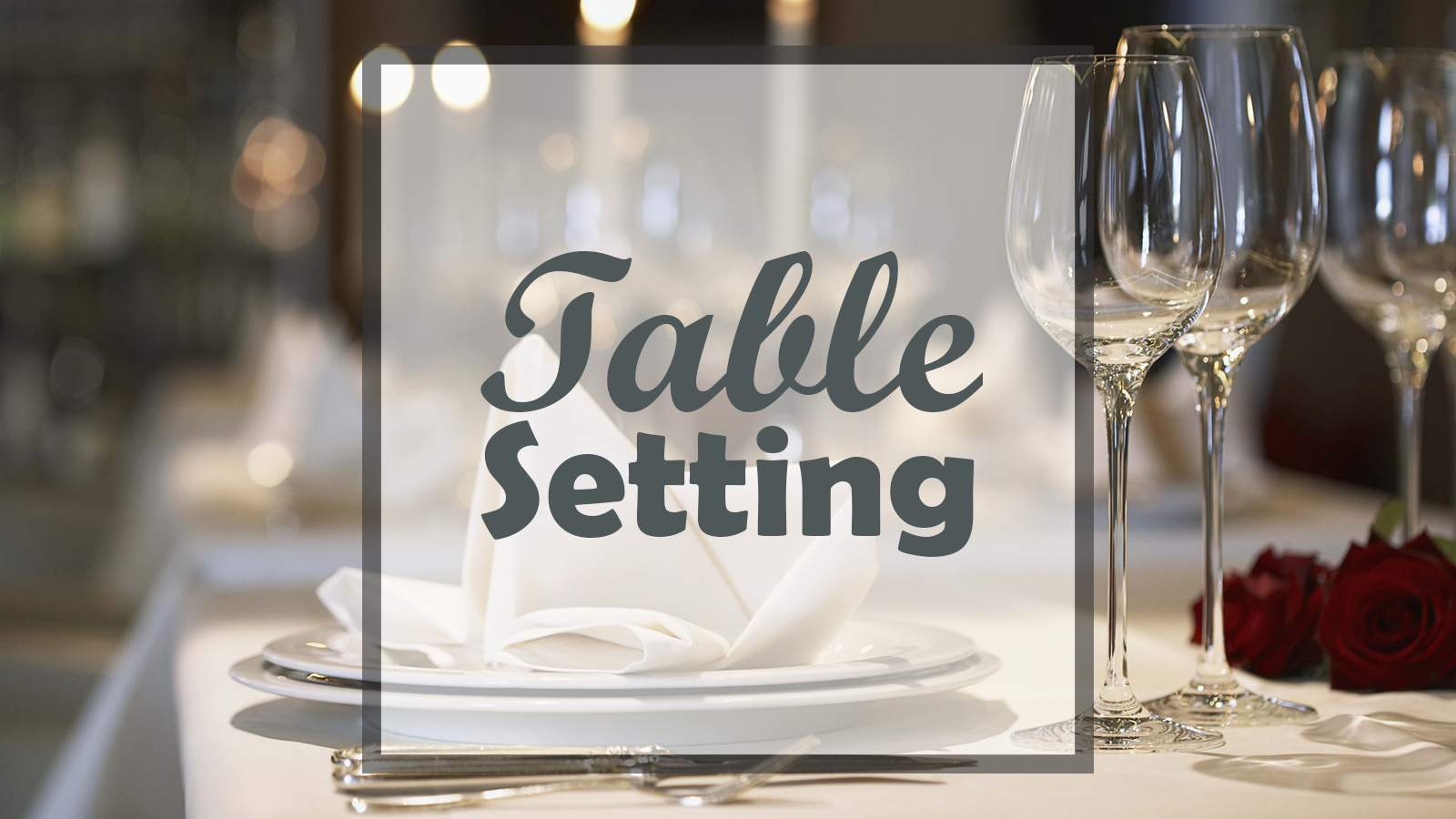hight resolution of american style table setting diagram