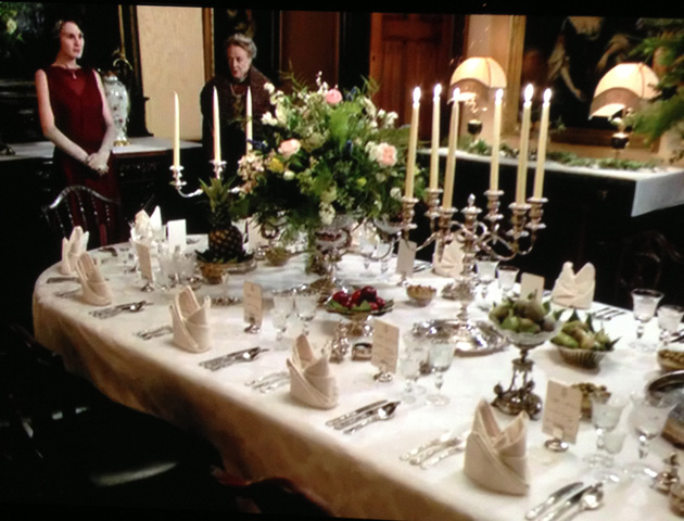 Downton Abbey dining etiquette