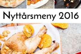 Nyttårsmeny 2016: Tyrkisk pide, muhammara, tomat- og granateplesalat, aubergine i tomatsaus, helstekt kylling med oliven og sitrus, tyrkisk rispilaff og honning- og fetaostekake med kadayifbunn - oppskrifter / Et kjøkken i Istanbul