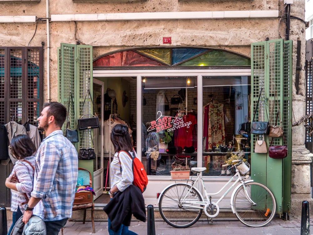 Vintagebutikken Rag and Roll i Fener, Istanbul