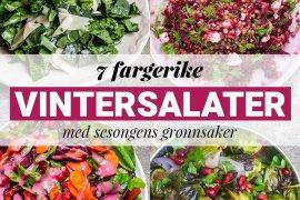 7 fargerike vintersalater med grønnsaker i sesong – oppskrifter / Et kjøkken i Istanbul