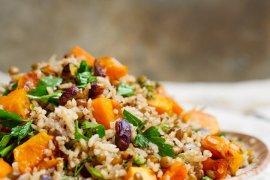 Ris og linser med søtpotet eller gresskar - oppskrift / Et kjøkken i Istanbul