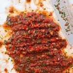 Spicy dippsalat – acili ezme – fra boka Hummus & granateple av Vidar Bergum