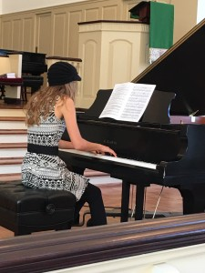 "ELEANOR DANIELS, STUDENT OF DR. Marylyn WRIGHT , PLAYS ""NOCTURNE NO.5"" BY FIELD."