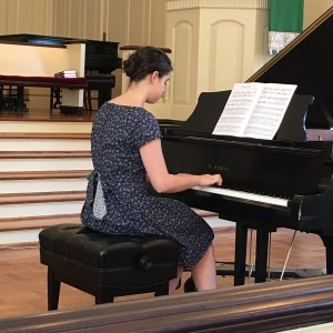 "ALISON CASPER, STUDENT OF DONNA CALAWAY, PLAYS ""FANTASY DANCE"" BY SCHUMANN."
