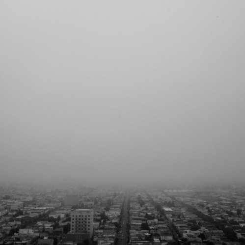 Foggy city from Bernal Heights