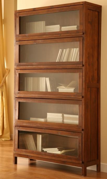 Libreria vetrina ante ribalta teak  Etnico Outlet mobili