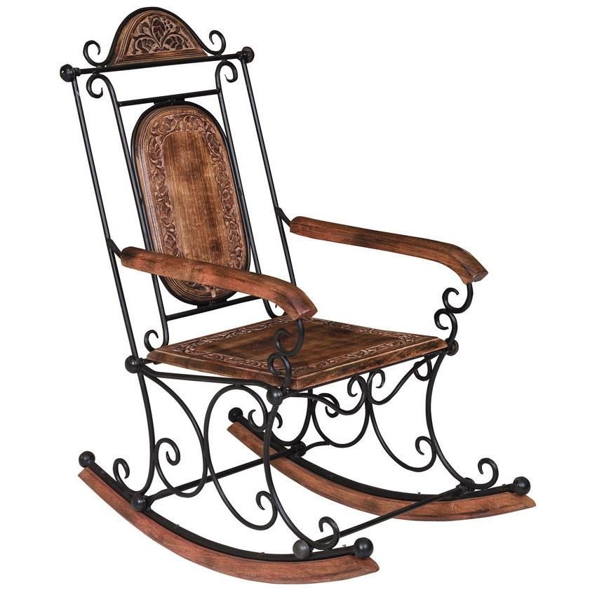 Sedia a dondolo legno e ferro Sedie orientali
