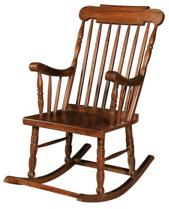 Sedia dondolo in legno  Etnico Outlet mobili etnici