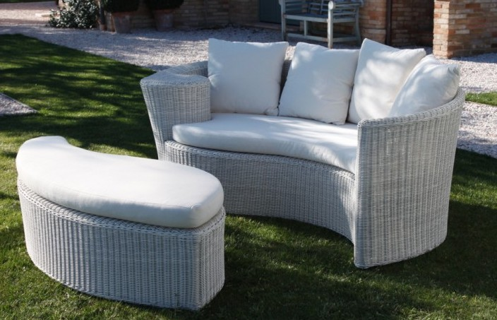 Sommier set giardino bianco  ETNICO OUTLET Mobili Etnici Industrial Shabby Chic