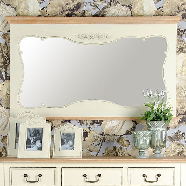 Specchio bianco provenzale  ETNICO OUTLET Mobili Etnici
