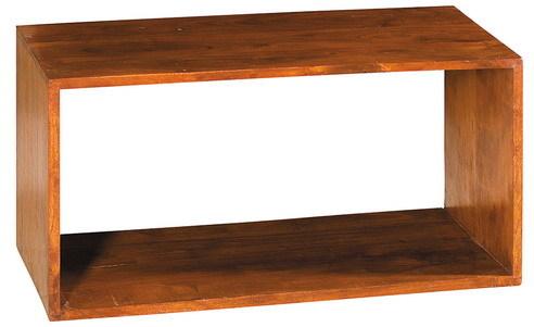 Cubo rettangolare in legno massello  Mobili Etnici Orientali