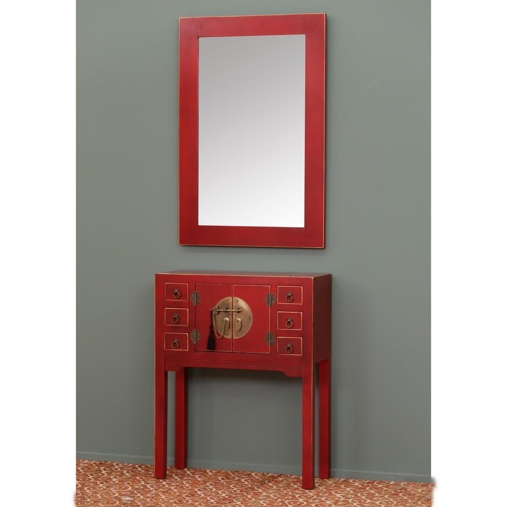 Mobiletto ingresso cinese rosso  Mobili Etnici Orientali