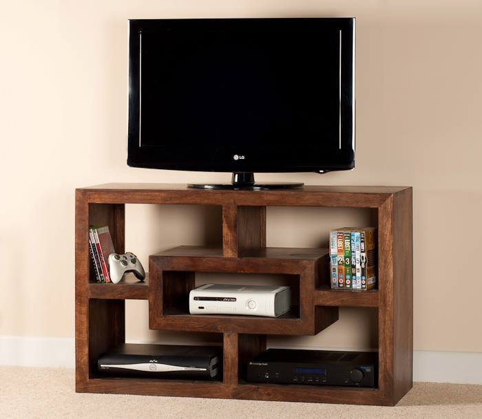 Mobile porta tv etnico legno col noce Outlet mobili etnici