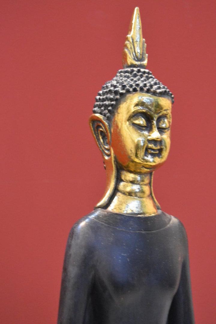 Statua etnica buddha dorata  ETNICO OUTLET Mobili Etnici Industrial Shabby Chic