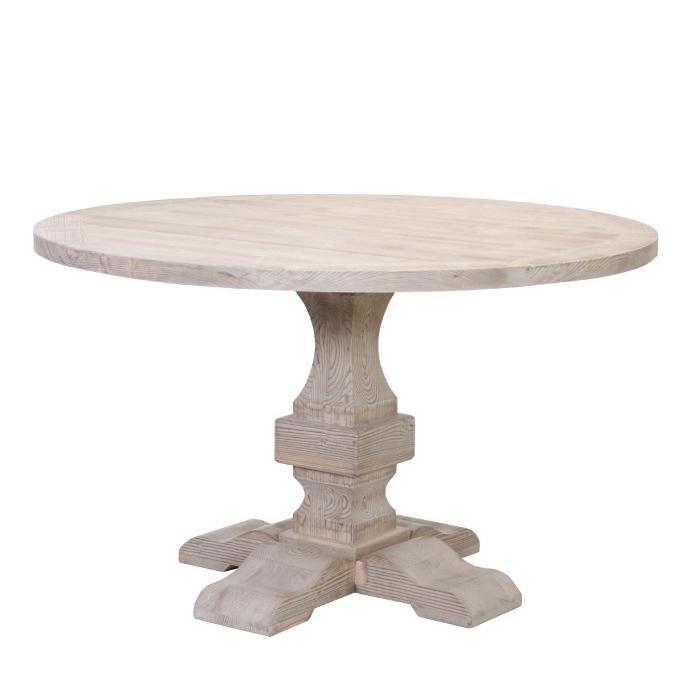 Tavolino francesecon decori legno di abetebianco. Tavolo Provenzale Naturale Rotondo Tavoli Shabby Chic