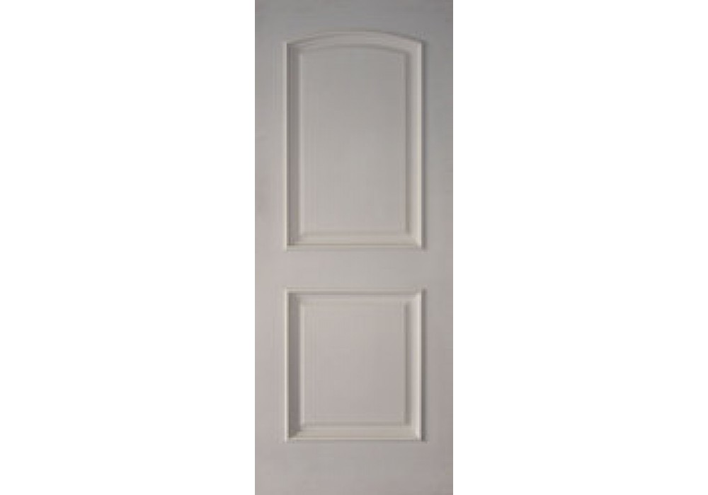 2PRMS 2 Panel Arched Top White Primed With Raised