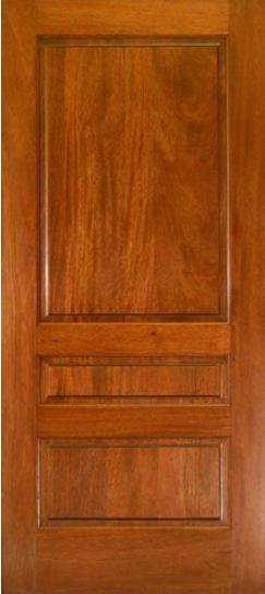 EXMA300 Mahogany 3 Panel Square Top Door ETO Doors